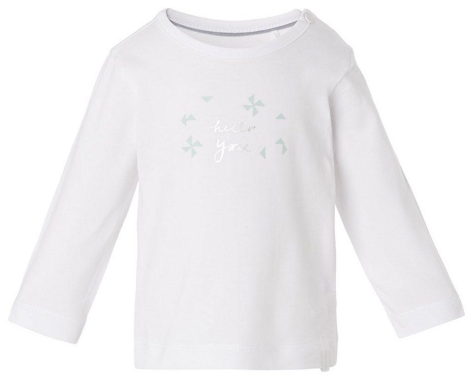 NOPPIES Langarmshirt »Kes« in White