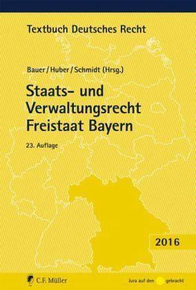 Broschiertes Buch »Staats- und Verwaltungsrecht Freistaat Bayern«