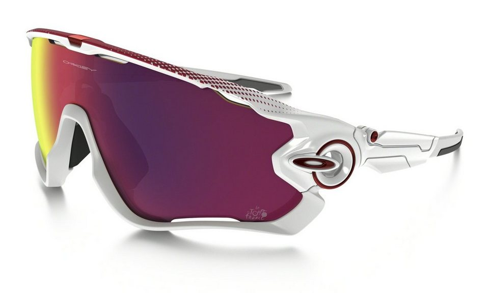 Oakley Radsportbrille »Jawbreaker« in weiß