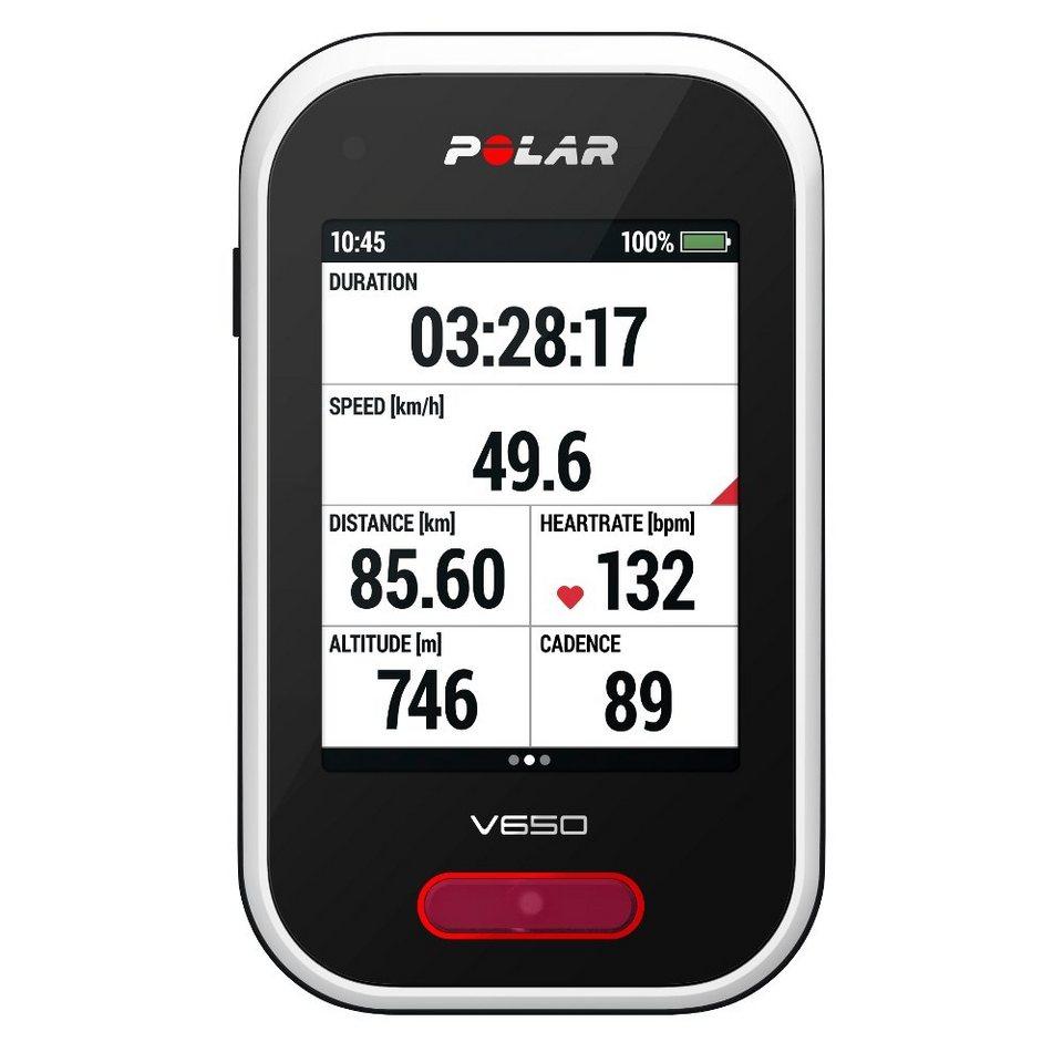 Polar Navigationsgerät »V650 Fahrradcomputer schwarz/weiß«