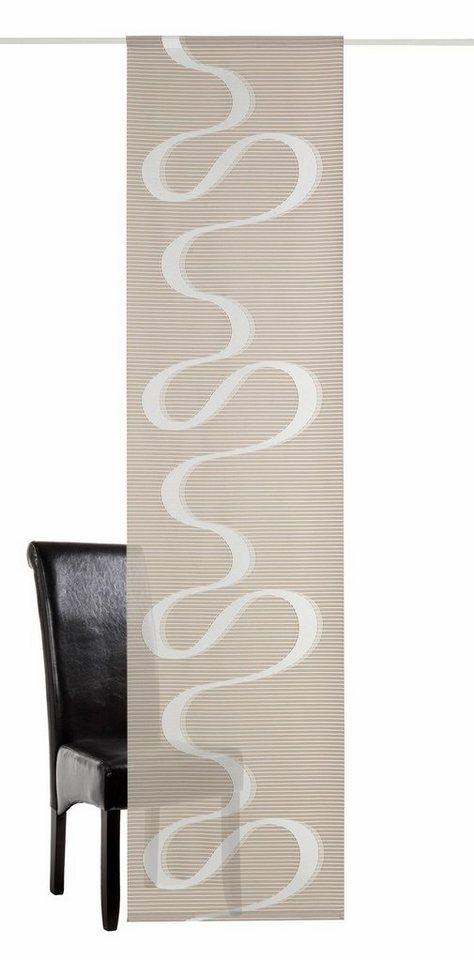 Schiebevorhang, deko trends, »Daiquiri« (1 Stück mit Zubehör) in sand