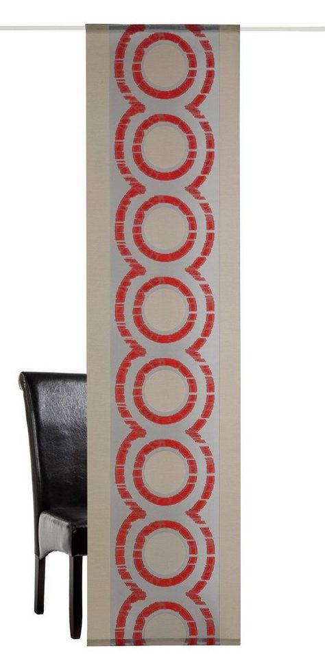Schiebevorhang, deko trends, »Medio«, mit Klettband (1 Stück mit Zubehör) in grau/rot