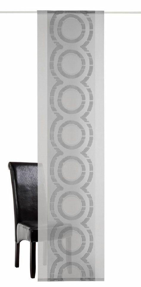 Schiebevorhang, deko trends, »Medio« (1 Stück mit Zubehör) in grau/anthrazit