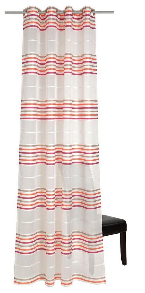 Gardine, deko trends, »Multi«, mit Ösen (1 Stück) in creme/rot