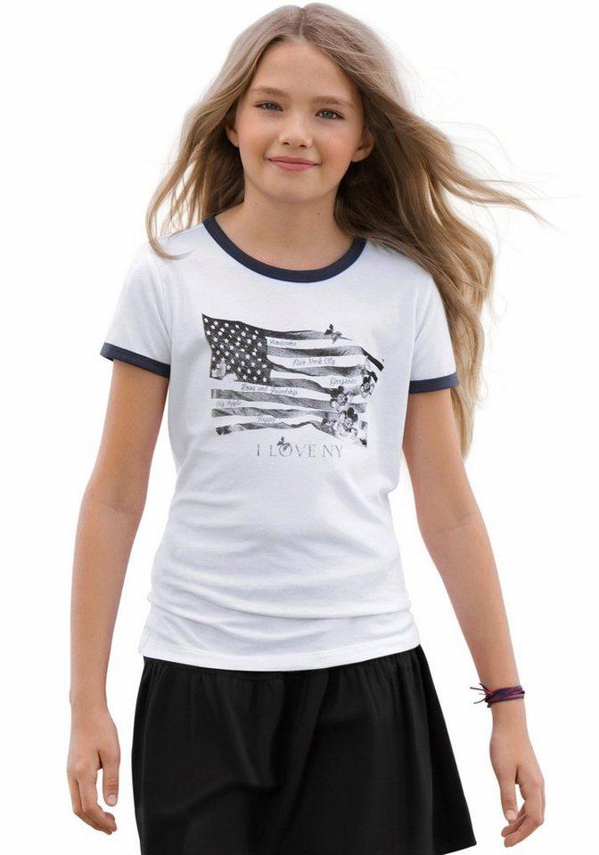 Arizona T-Shirt mit Frontdruck, für Mädchen in Weiß