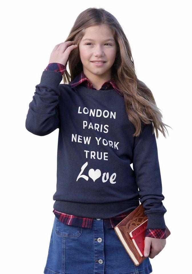 Arizona Sweatshirt mit Frontdruck in marine