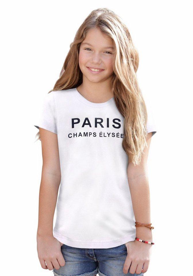Arizona T-Shirt mit Frontdruck in weiß