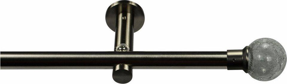 Gardinenstange 16 mm Christaly, ohne Ringe, nach Maß in Edelstahloptik