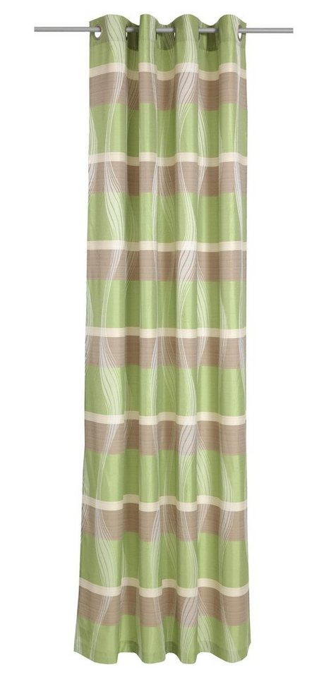 Vorhang, deko trends, »Valencia«, mit Ösen (1 Stück) in hellgrün/taupe
