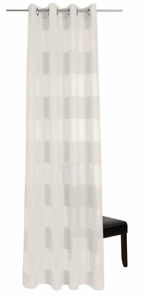 Vorhang, deko trends, »Tamara«, mit Ösen (1 Stück) in wollweiss/beige