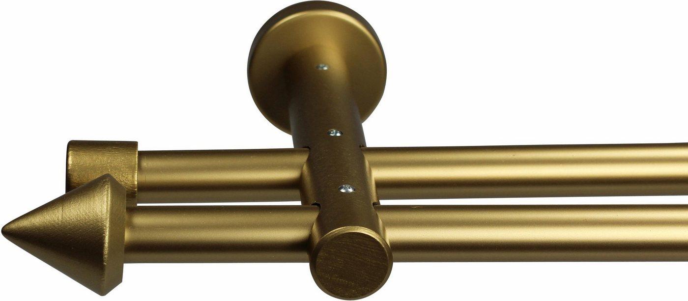 Gardinenstange »Spitze«, GARESA, Ø 20 mm, 2-läufig, Wunschmaßlänge   Heimtextilien > Gardinen und Vorhänge > Gardinenstangen   Goldfarben   GARESA