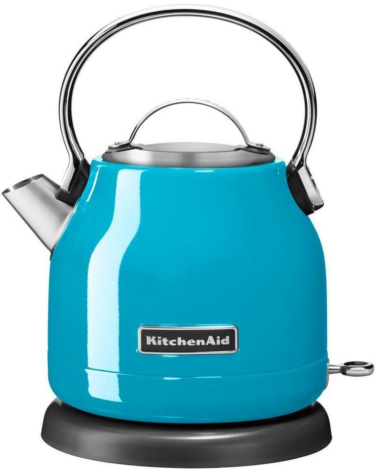 KitchenAid® Wasserkocher 5KEK1222ECL, 1,25 Liter, 2200 Watt, cristallblau in cristallblau
