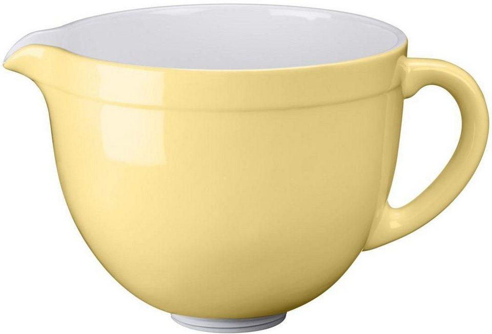 KitchenAid® 4,8-L-Keramikschüssel 5KSMCB5MY, NUR für KitchenAid mit kippbarem Motorkopf in pastellgelb