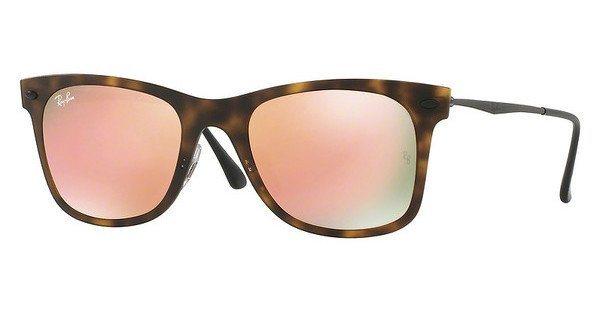 RAY-BAN Herren Sonnenbrille » RB4210« in 62442Y - braun/rosa