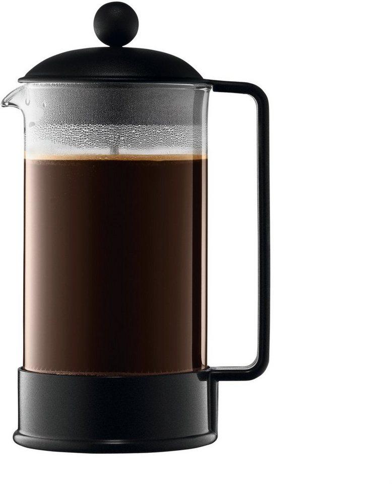 bodum® Kaffeebereiter, 1 Liter, »Brazil« in transparent/schwarz