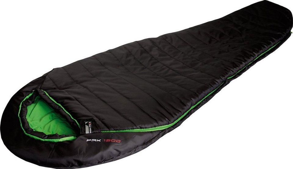 High Peak Mumienschlafsack, »Pak 1300« in schwarz-grün