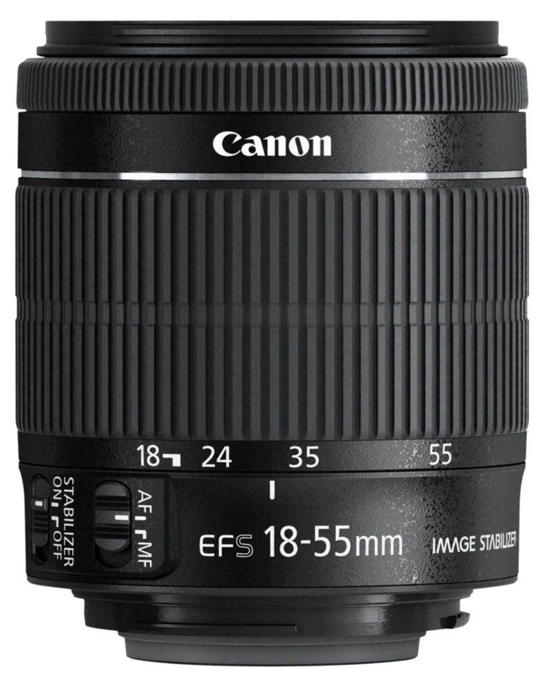 Canon Objektive »EF-S 3,5-5,6/18-55 IS STM« in schwarz