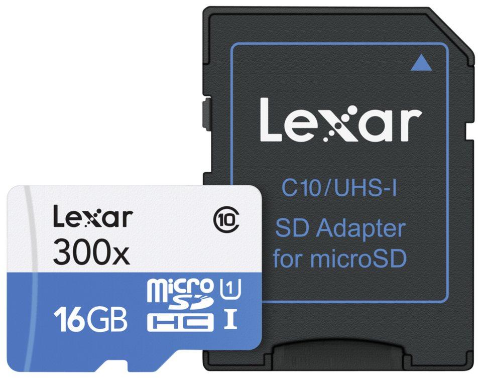 Lexar Speicherkarten »microSDHC High Speed 16GB with Adapter Class 10 30«