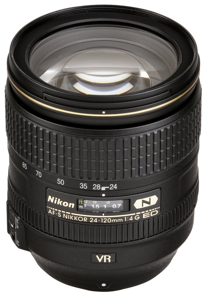 Nikon SLR Objektive »AF-S 4,0/24-120 G ED VR« in schwarz