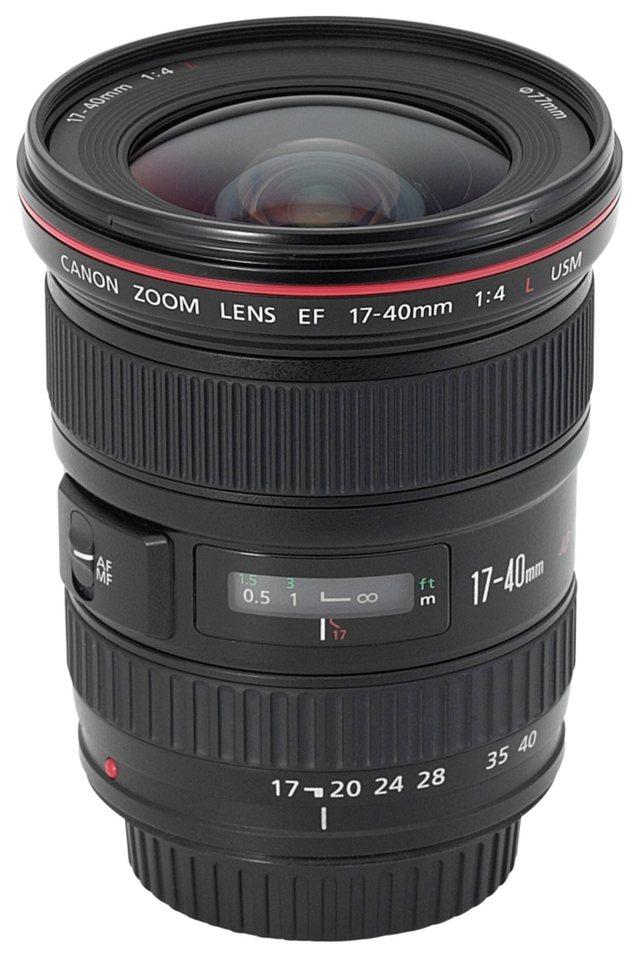Canon Objektive »EF-L USM 4,0/17-40« in schwarz