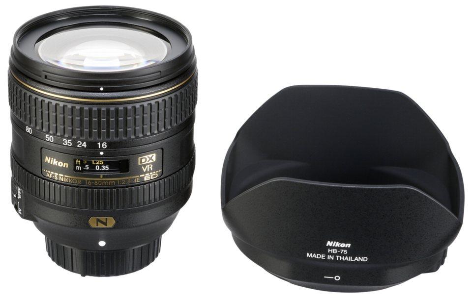 Nikon Objektive »AF-S 2,8-4/16-80 DX ED VR« in schwarz