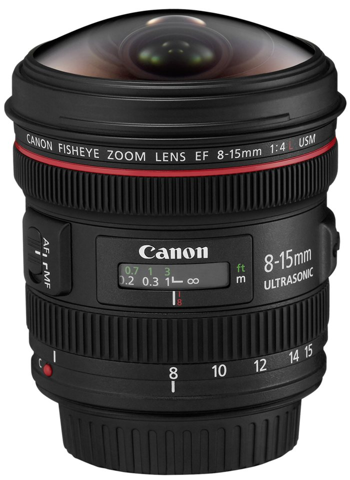 Canon SLR Objektive »EF-L 4,0/8-15 USM Fisheye« in schwarz