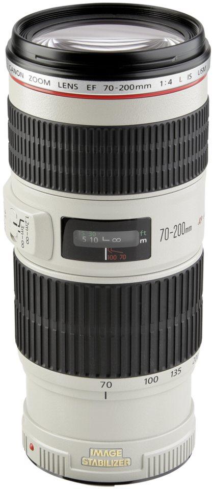 Canon Objektive »EF-L USM 4,0/70-200 IS« in weiß / schwarz