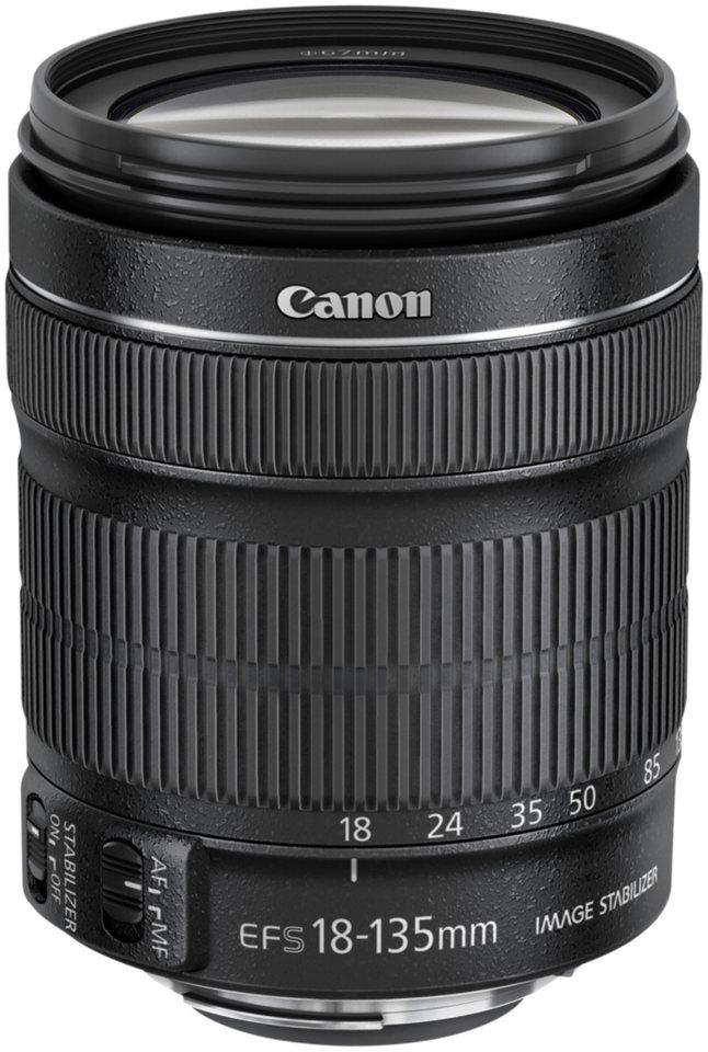 Canon SLR Objektive »EF-S 3,5-5,6/18-135 IS STM« in schwarz