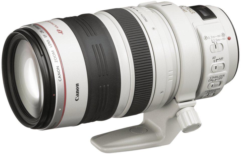 Canon SLR Objektive »EF-L USM 3,5-5,6/28-300 IS« in silber / schwarz