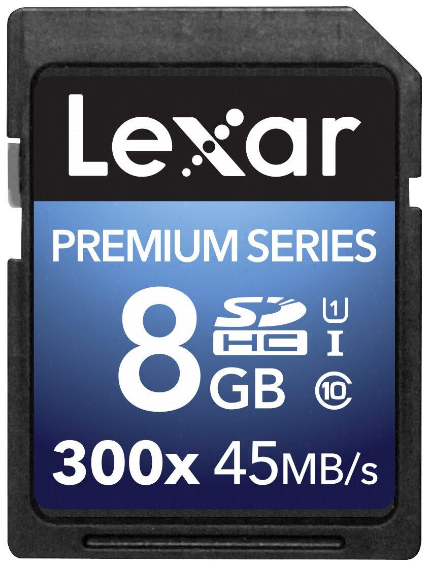 Lexar Speicherkarten »SDHC Card 8GB 300x Premium II Class 10 UHS-I«