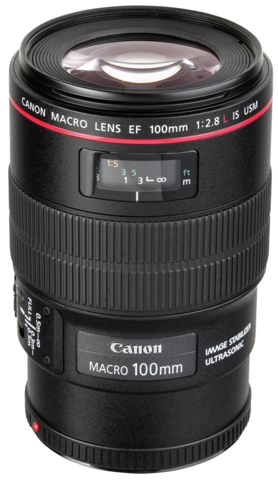 Canon SLR Objektive »EF 2,8/100 L Macro IS USM« in schwarz
