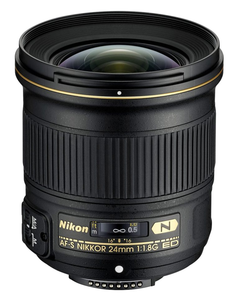 Nikon SLR Objektive »AF-S 1,8/24 G ED« in schwarz