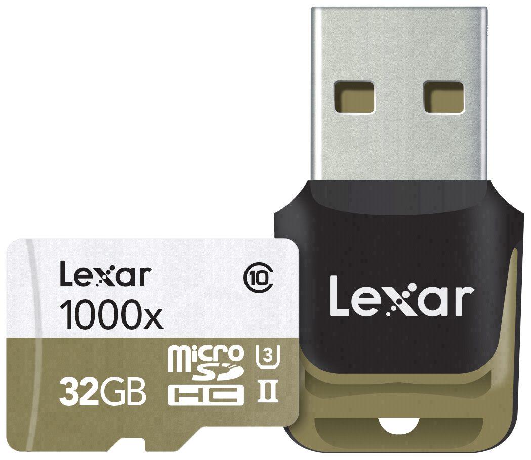 Lexar Speicherkarten »microSDHC 1000x 32GB UHS-II mit USB 3.0 Reader«