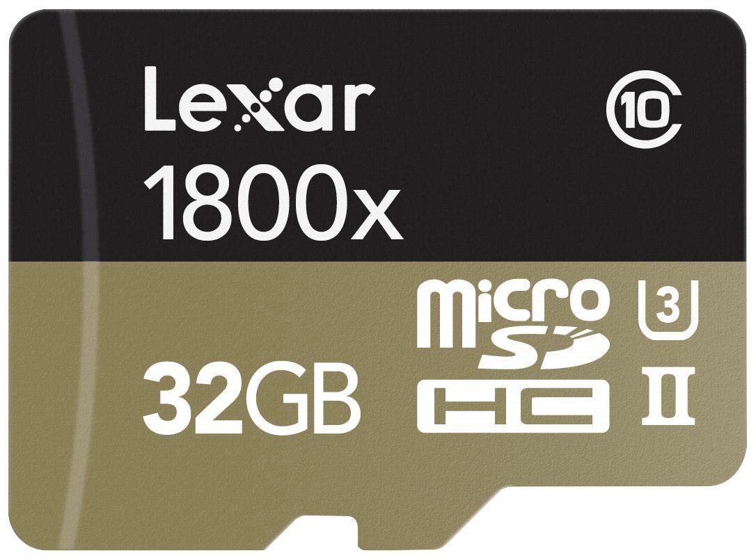 Lexar Speicherkarten »microSDHC 1800x 32GB UHS-II USB 3.0 Reader + Adap«
