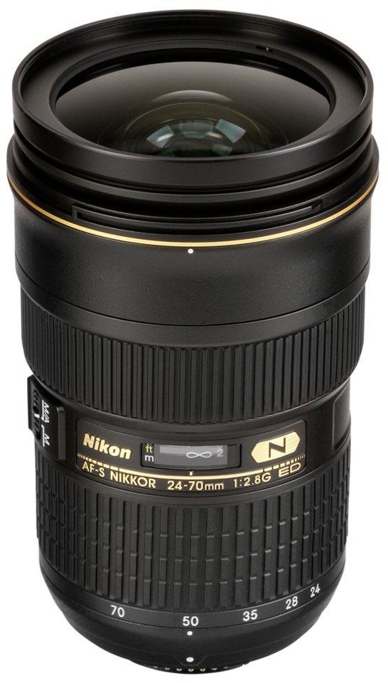 Nikon SLR Objektive »AF-S 2,8/24-70 ED« in schwarz