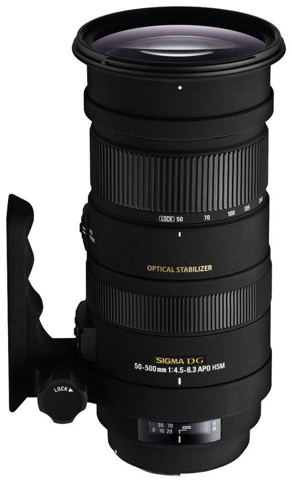 Sigma Objektive »4,5-6,3/50-500 OS DG P/AF APO HSM« in schwarz