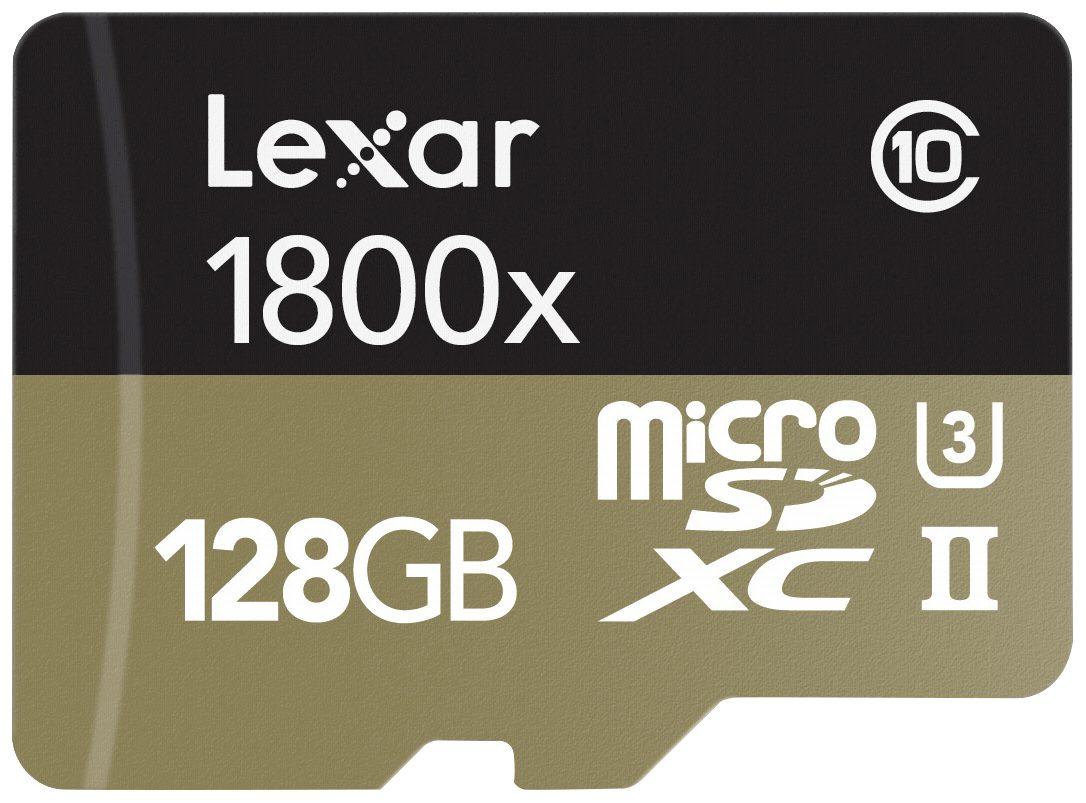 Lexar Speicherkarten »microSDXC 1800x 128GB UHS-II USB 3.0 Reader + Adap«