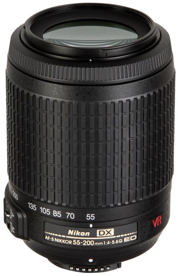 Nikon Objektive »AF-S DX 4,0-5,6/55-200 VR« in schwarz
