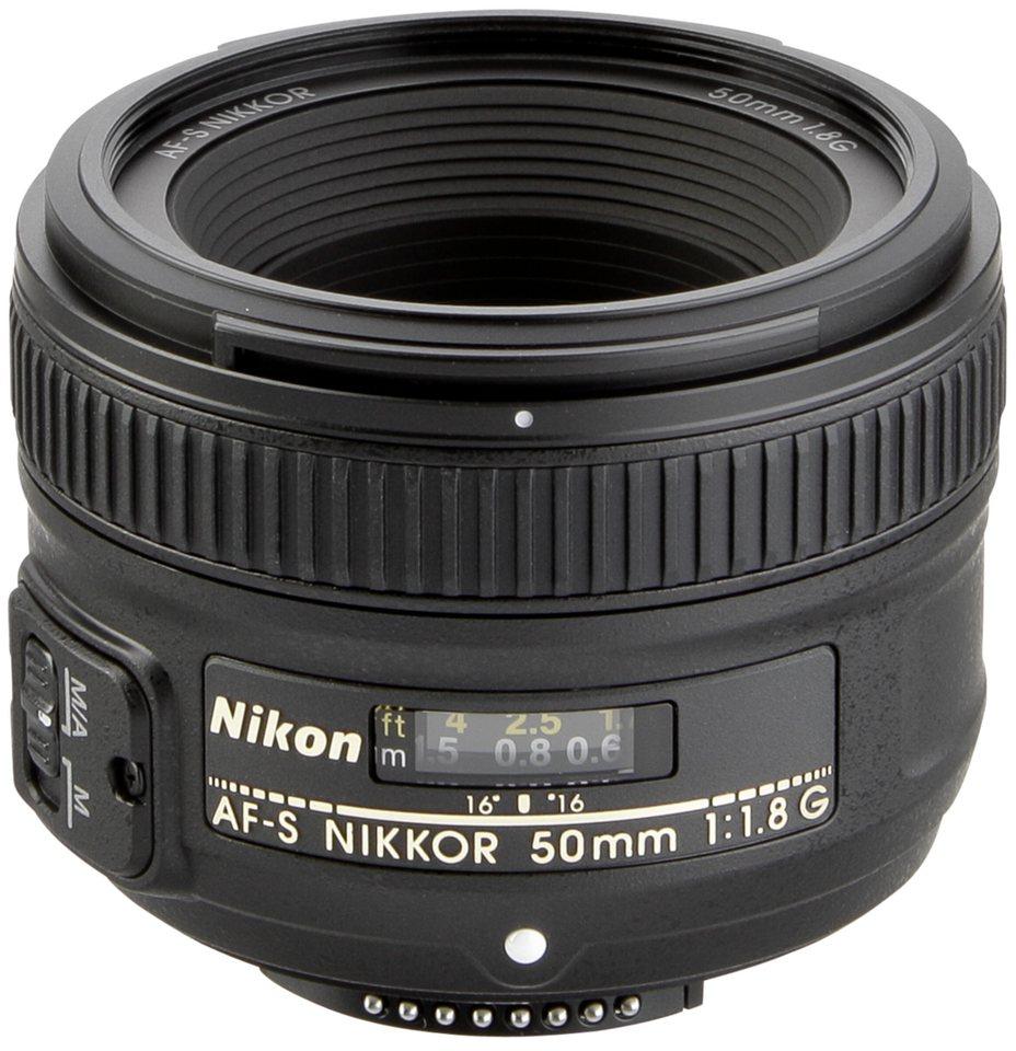 Nikon SLR Objektive »AF-S 1,8/50 G« in schwarz