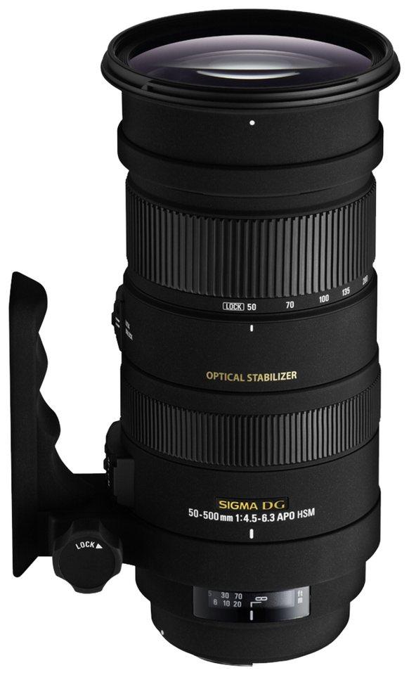 Sigma SLR Objektive »4,5-6,3/50-500 OS DG N/AF APO HSM« in schwarz