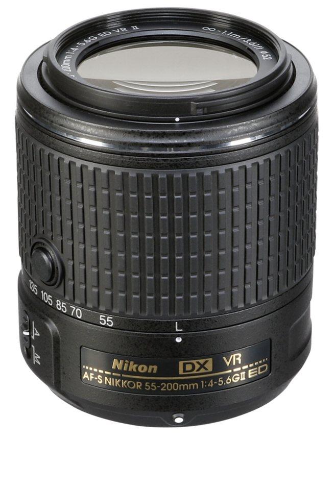 Nikon Objektive »AF-S 4,0-5,6/55-200 DX G ED VR II« in schwarz