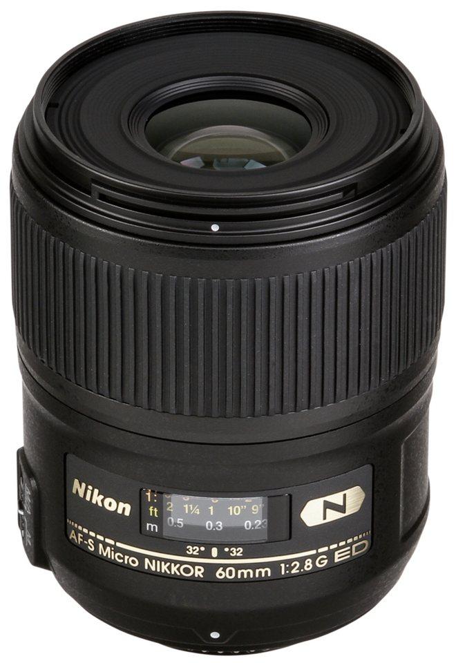 Nikon SLR Objektive »AF-S 2,8/60 ED Micro« in schwarz