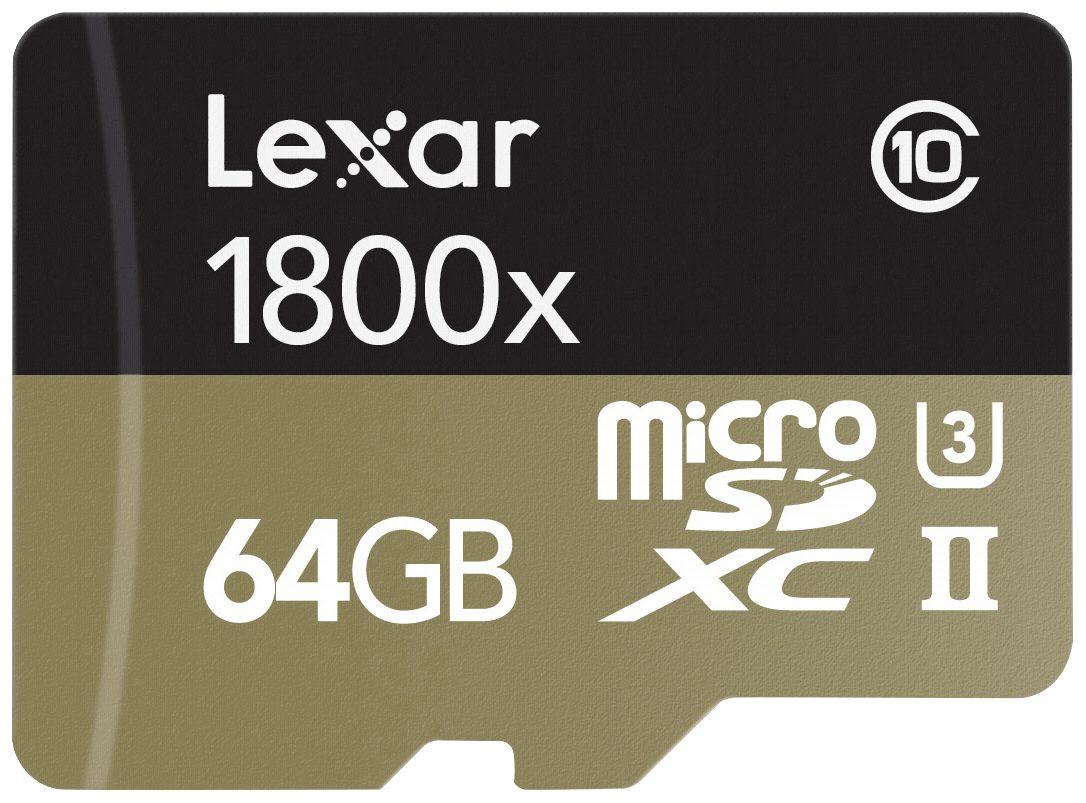 Lexar Speicherkarten »microSDXC 1800x 64GB UHS-II USB 3.0 Reader + Adap«