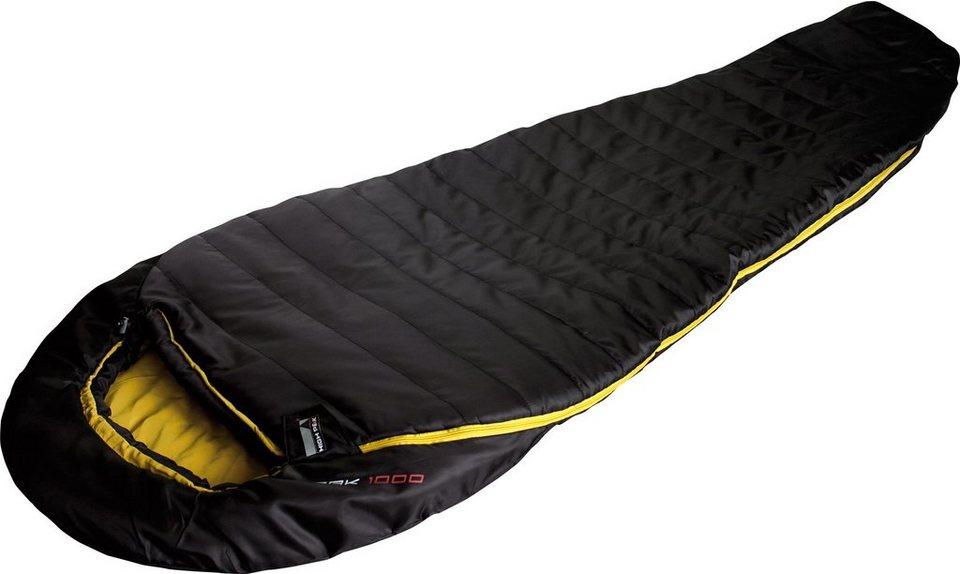 High Peak Mumienschlafsack, »Pak 100« in schwarz-gelb