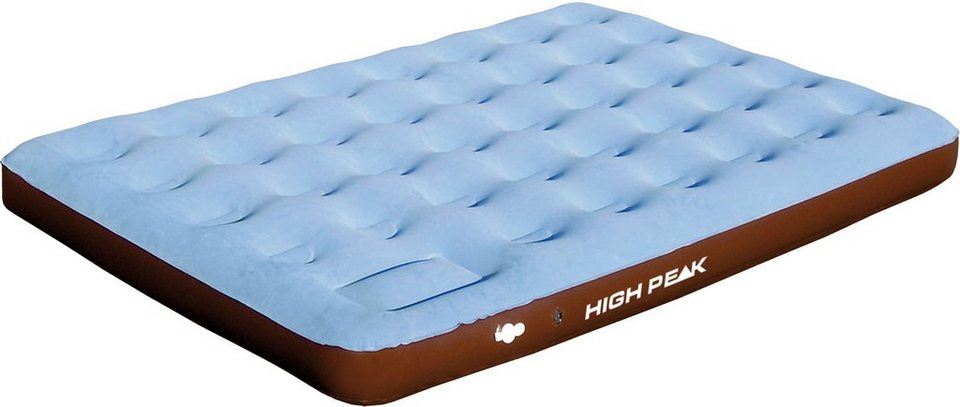 High Peak Luftbett, »Double Comfort Plus extra long« in hellblau-braun