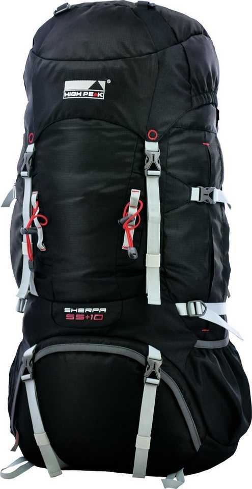 High Peak Tourenrucksack, »Sherpa 55+10« in schwarz