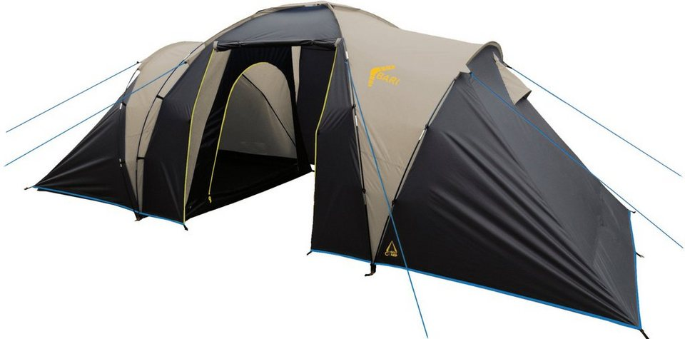 Best Camp Zelt, 6 Personen, »Bari 6« in dunkelblau-grau-hellblau