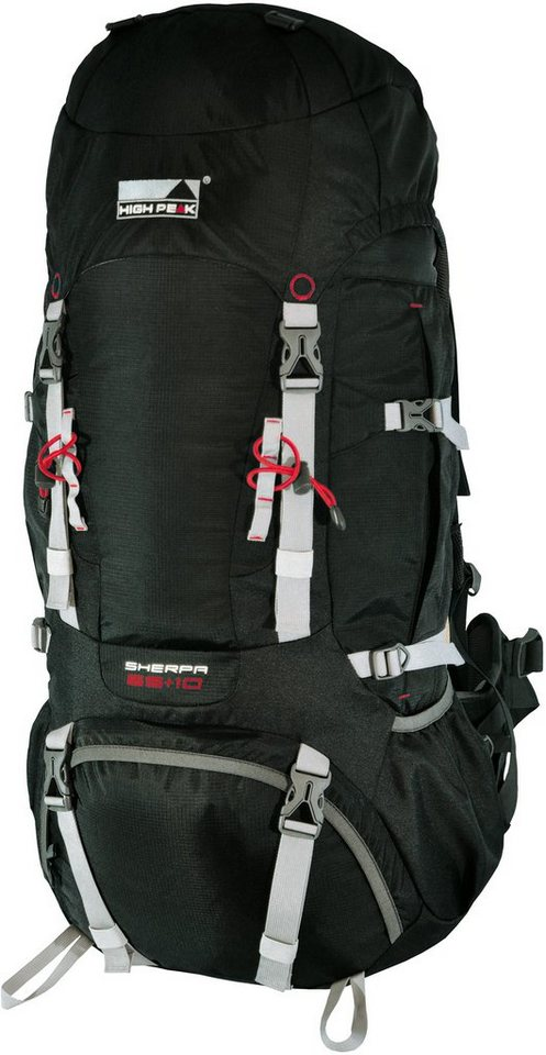 High Peak Tourenrucksack, »Sherpa 65+10« in schwarz
