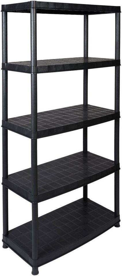 """Steckregal »18"""" mit 5 geschlossenen Böden«, in schwarz in schwarz"""