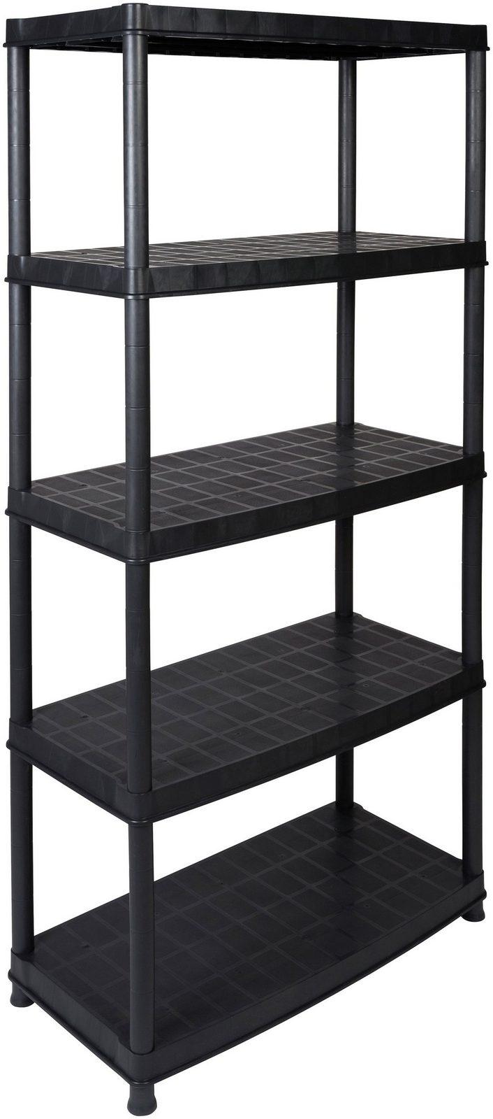 Kreher Steckregal »18´´ mit 5 geschlossenen Böden«, in schwarz